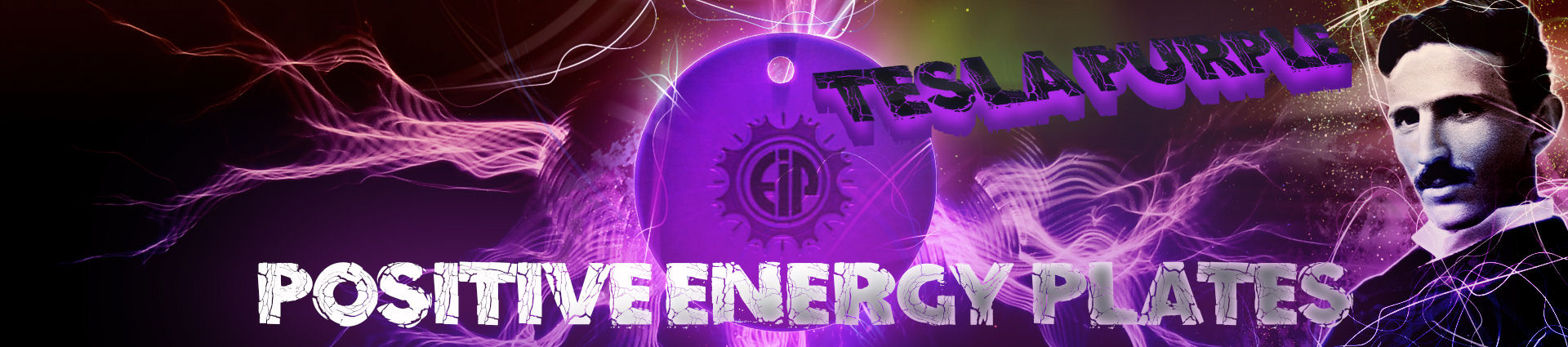 Buy Original EIP Positive Energy Purple Plates Inspired by Nikola Tesla